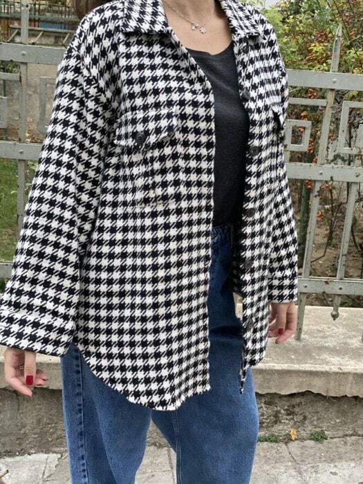 καρο πουκαμισο-ζακετα oversized